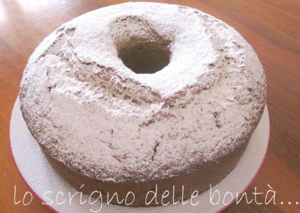 TORTA CON CREMA DI BANANE E NOCI