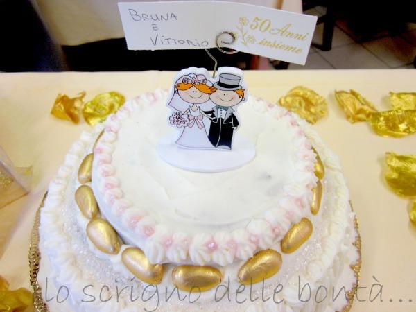 Fabuleux torta per le nozze d'oro JL16