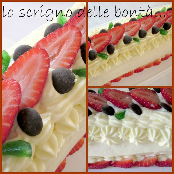 rotolo alle fragole collage