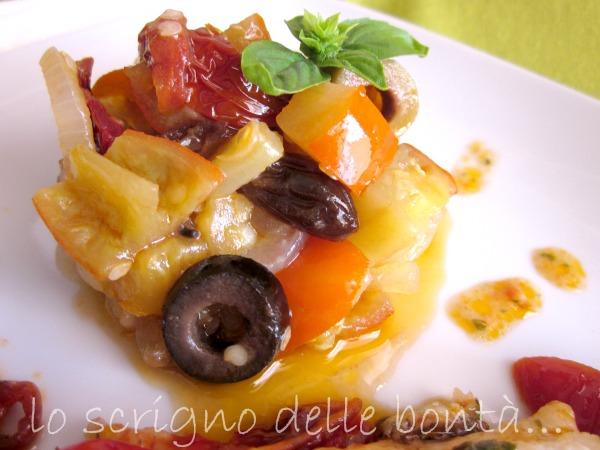 filetto di cefalo con pomodorini e melanzane saporite 3