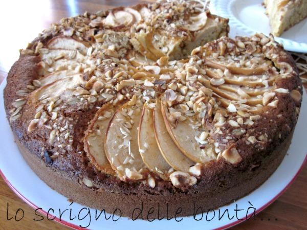 torta di mele nocciole e avena 3