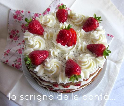 torta panna e fragole 1