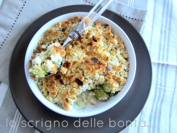 zucchine agli aromi con crumble al parmigiano 4