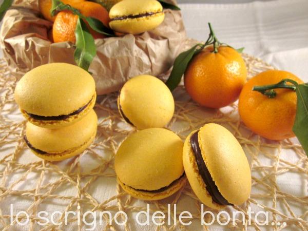 macaron clementine e cioccolato 1