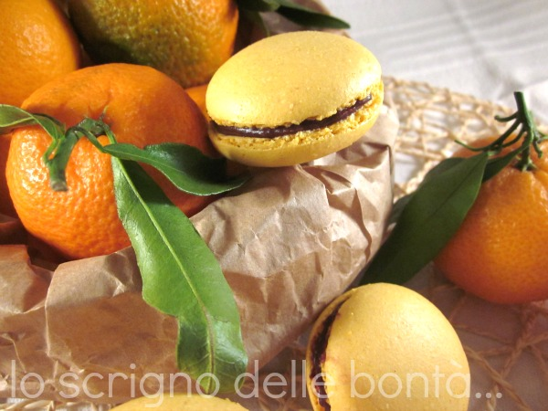 macaron clementine e cioccolato 2
