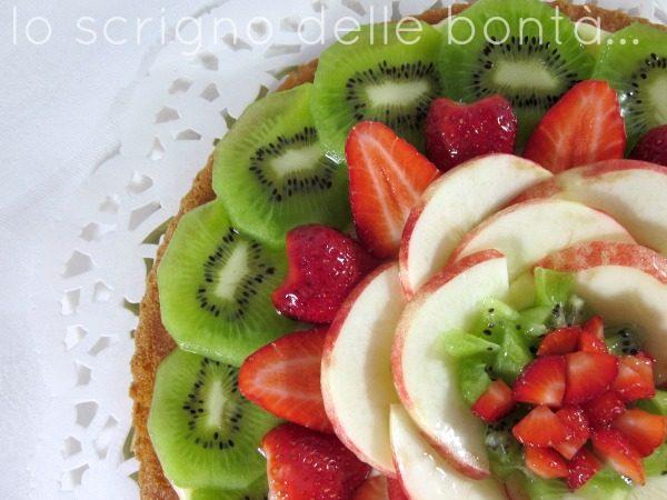 TORTA CALIFORNIANA ALLA FRUTTA  o crostata morbida alla frutta (ricetta di base)