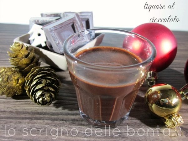 LIQUORE AL CIOCCOLATO home made