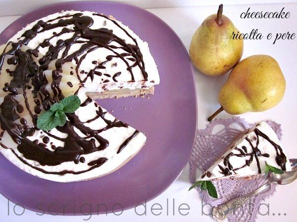 CHEESECAKE RICOTTA E PERE variegata al cioccolato