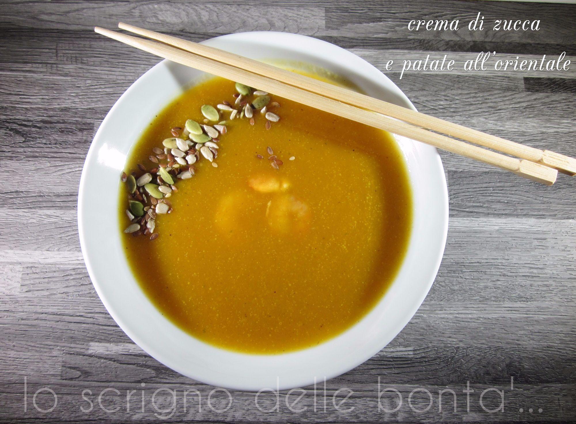 Ricetta Zucca Orientale.Crema Di Zucca E Patate All Orientale